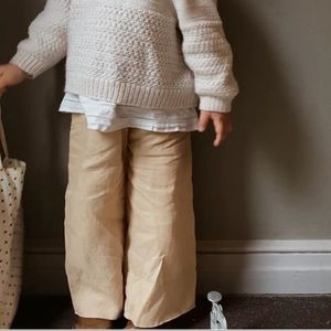 Field Day Linen & Cotton Wide Leg Pants 2T